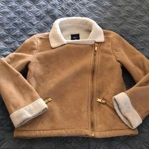 Gap jacket with asymmetrical zipper.